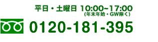 9:30~17:00 0120-181-395